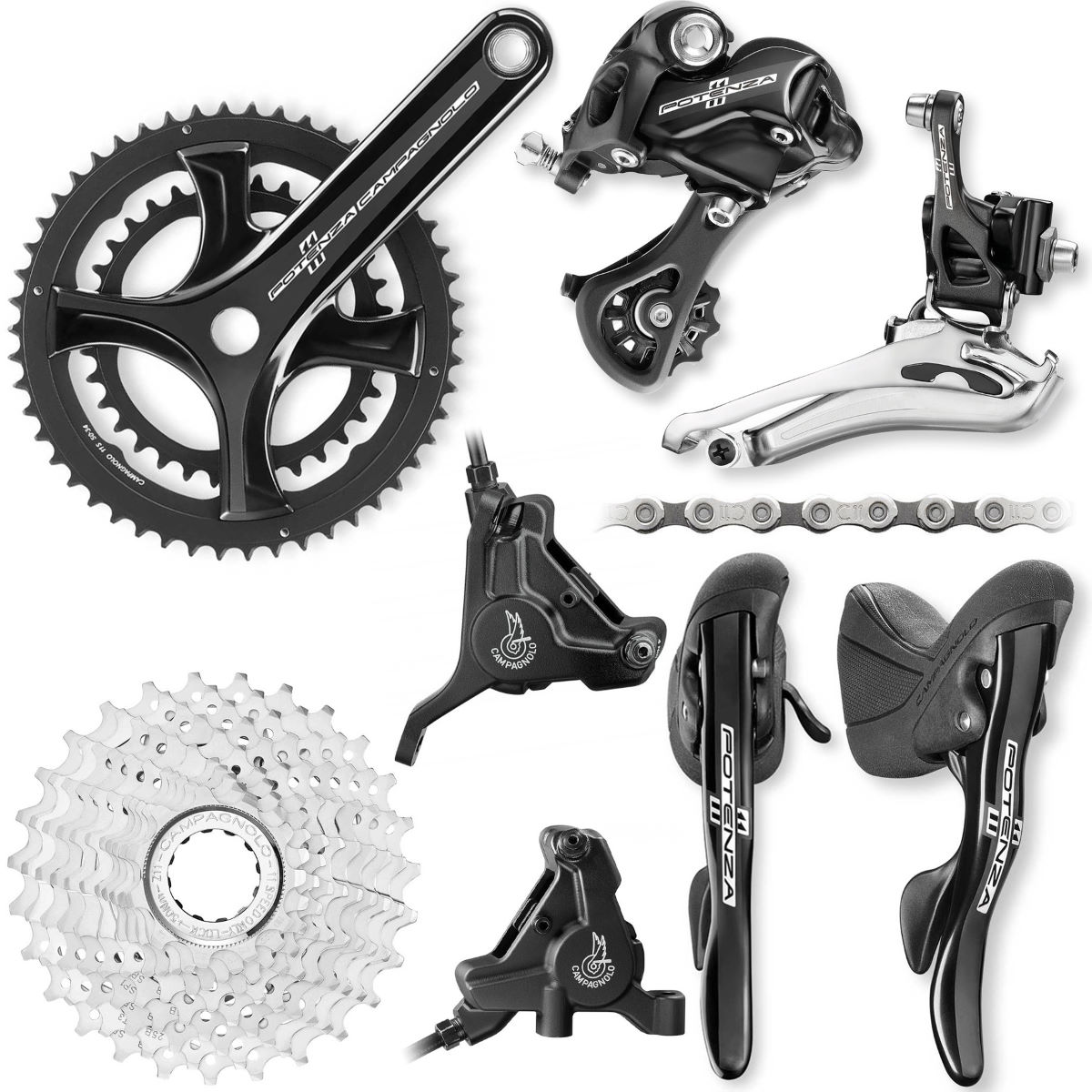 Campagnolo Campagnolo Potenza 11 Speed Hydraulic Disc Groupset   Groupsets
