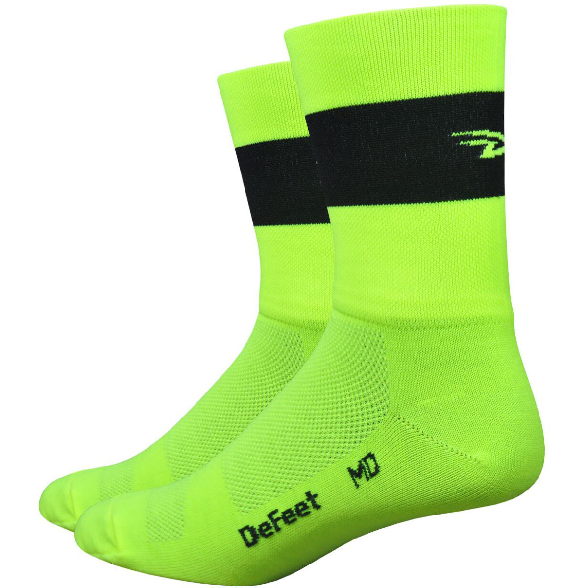"DeFeet DeFeet Aireator 5"" Team DeFeet Hi-Vis Socks   Socks"