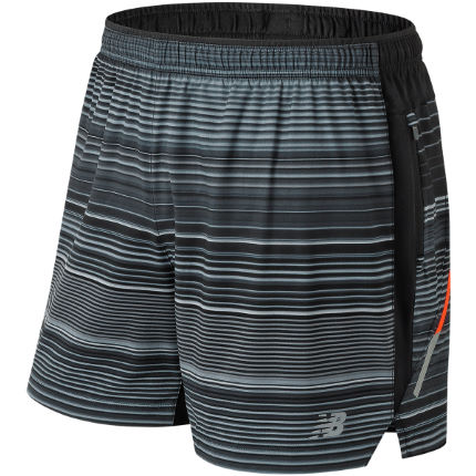 "New Balance Impact Printed 5"" Run Short"