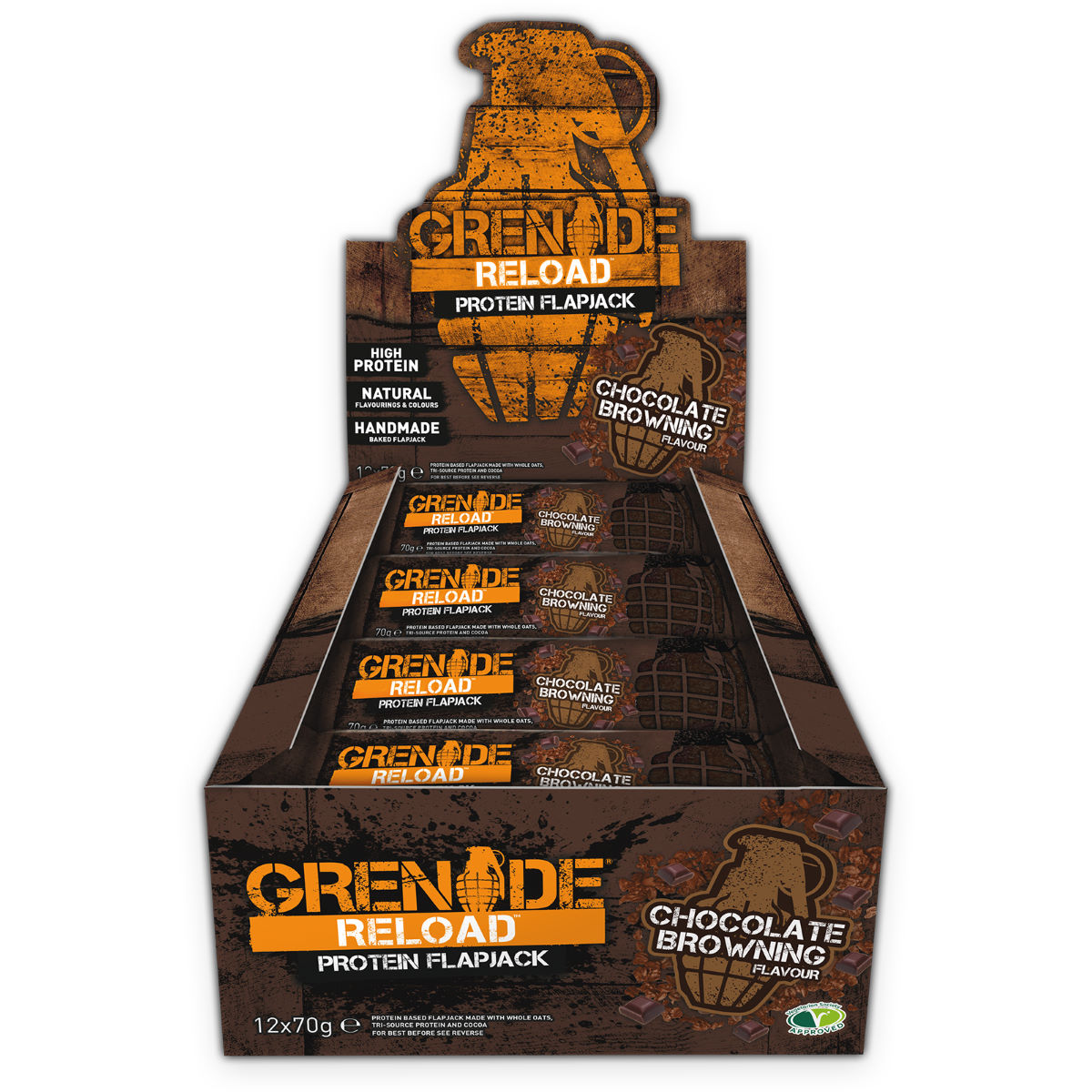 Image of Barres Flapjacks Grenade Reload (12 x 70 g) - 70g | Barres