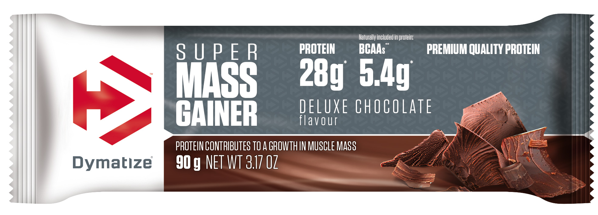 Dymatize Super Mass Gainer Bar (10 x 90g) | Handlebars