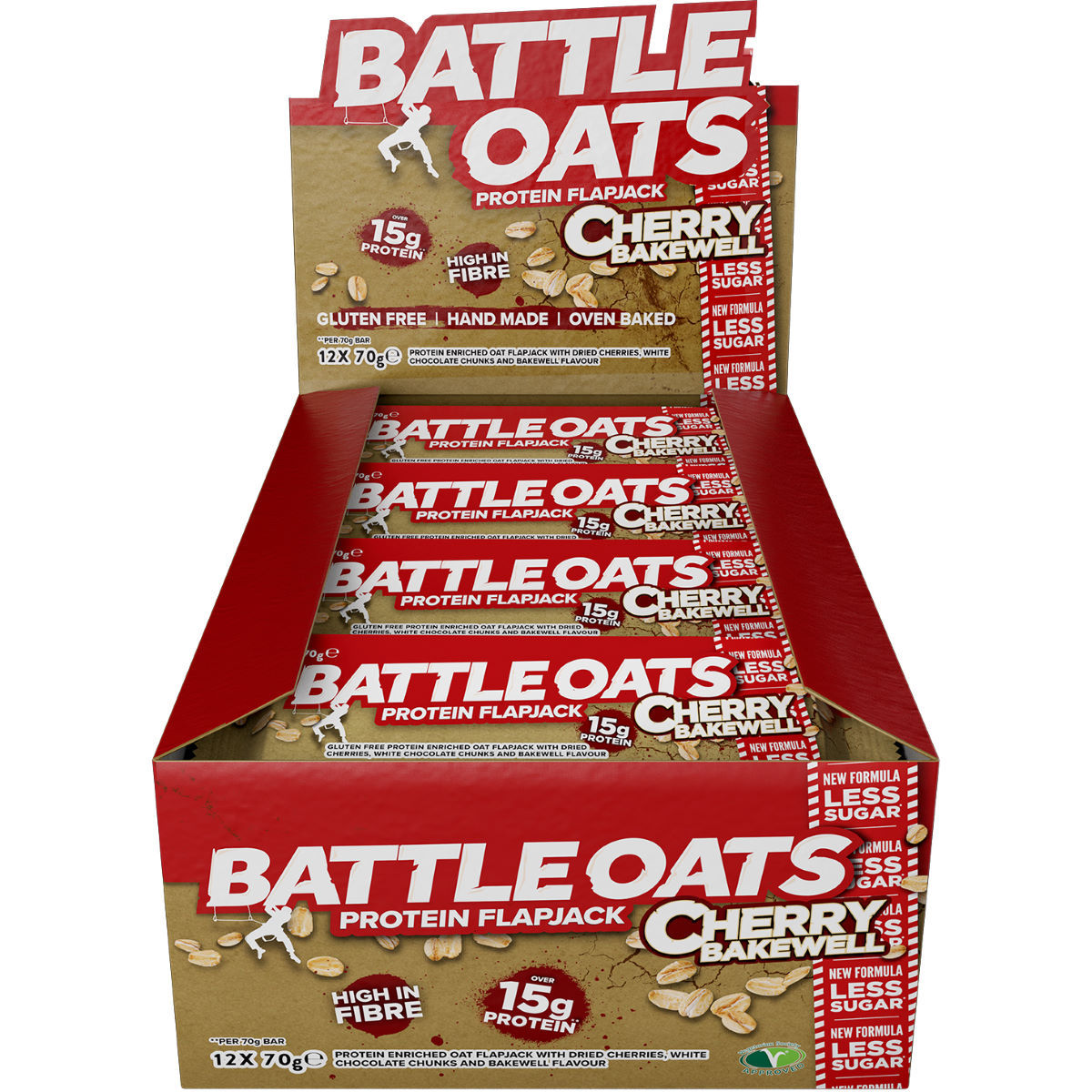 Image of Barres Flapjacks Battle Oats (12 x 70 g) - 12 x 70g Cherry Bakewell