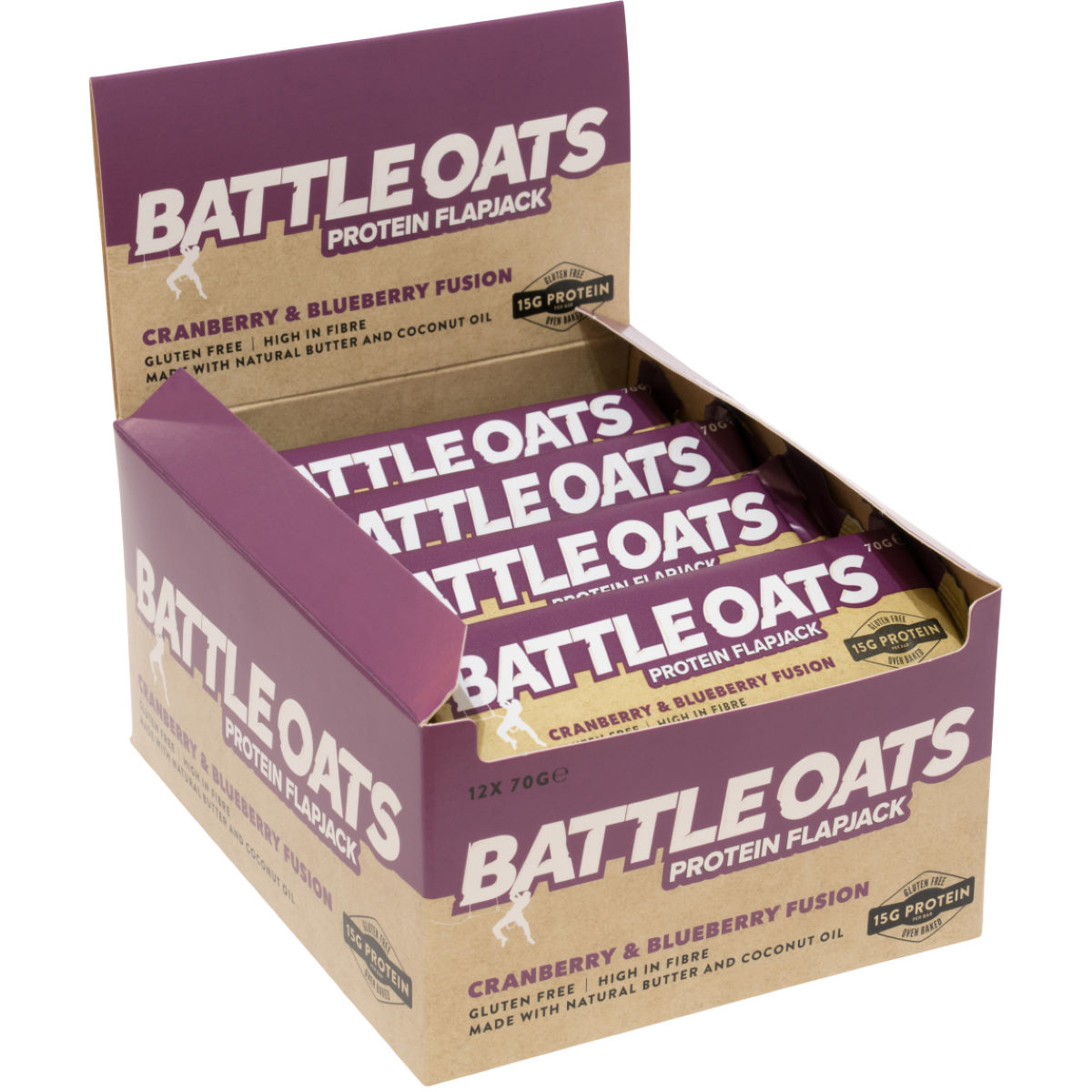 Image of Barres Flapjacks Battle Oats (12 x 70 g) - 12 x 70g | Barres