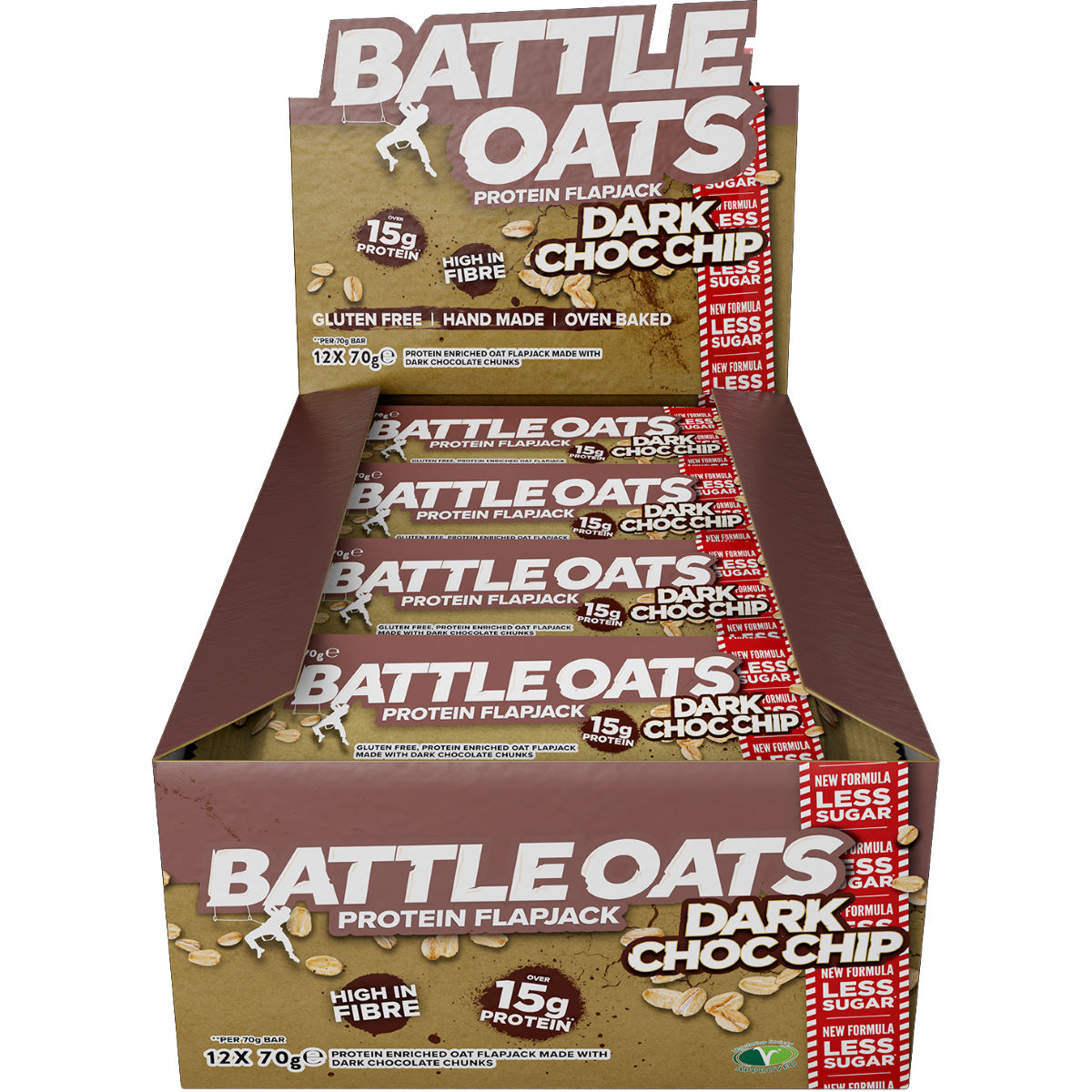 Image of Barres Flapjacks Battle Oats (12 x 70 g) - 12 x 70g Dark Choc Chip