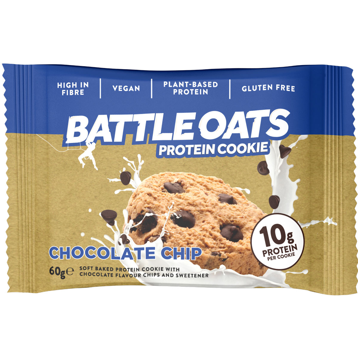Image of Cookies Battle Oats (12 x 60 g) - 12 x 60g Chocolate Chip | En-cas