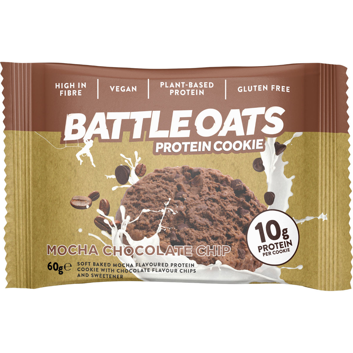 Image of Cookies Battle Oats (12 x 60 g) - 12 x 60g Mocha Chocolate Chip