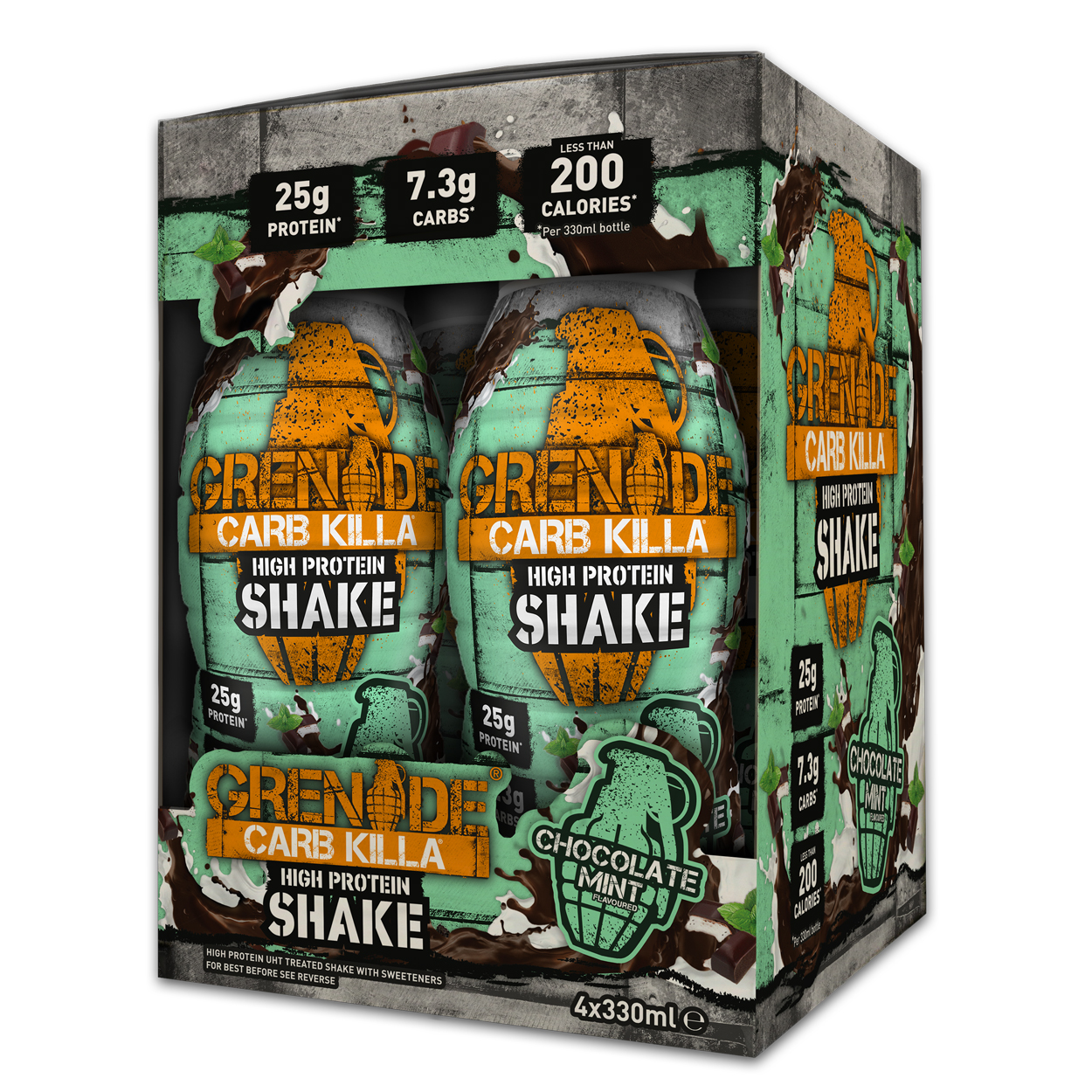 Grenade Carb Killa High Protein Shake (4x330ml) | Protein bar and powder