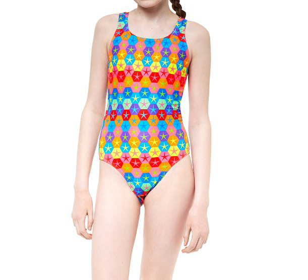 Maru Girl's Superstars Pacer Rave Back Swimsuit | swim_clothes