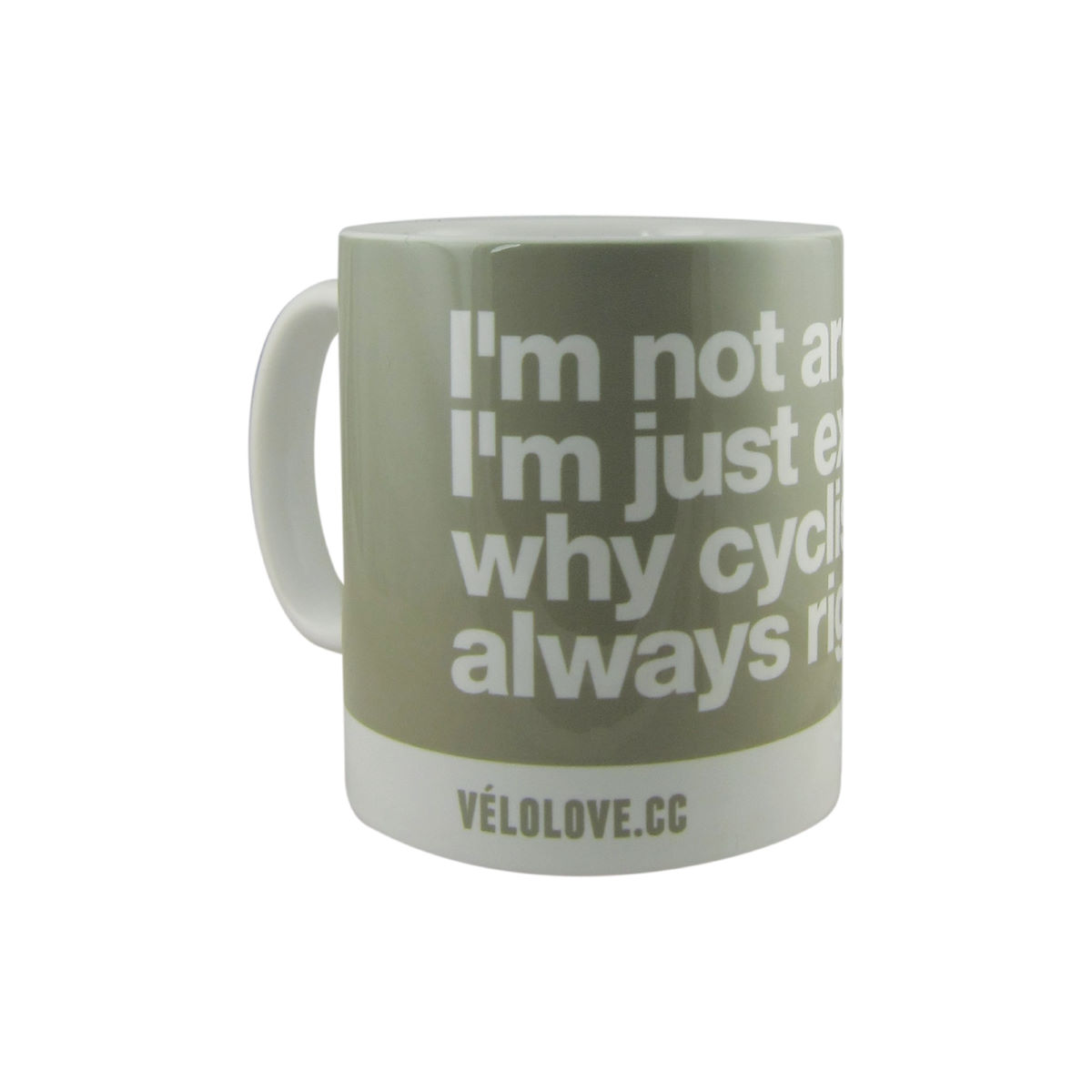 Image of Tasse Velolove I'm not arguing, I'm just explaining why cyclists are always right