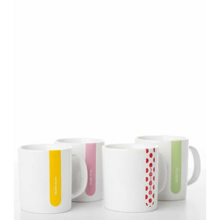 Cycling Souvenirs Grand Tour Mug Set (Set of 4)