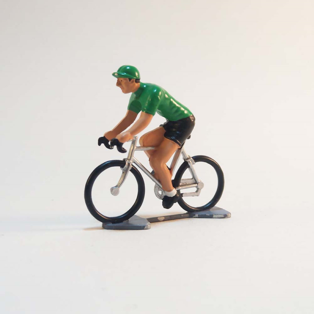 Image of Figurine Cycling Souvenirs Mini-cycliste maillot vert - Taille unique