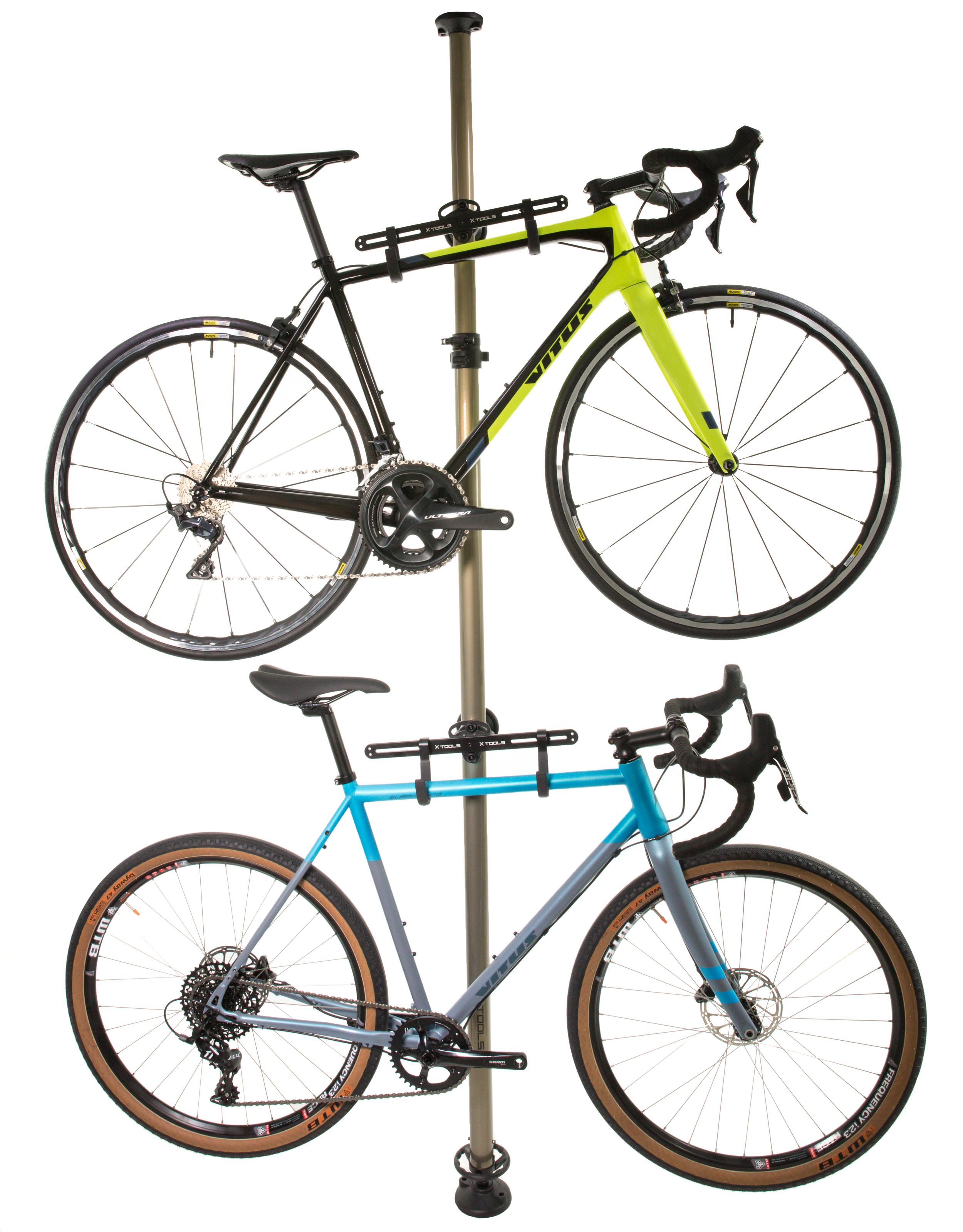 X-Tools Floor to Ceiling Two Bike Store Away   maintenance_stand_component