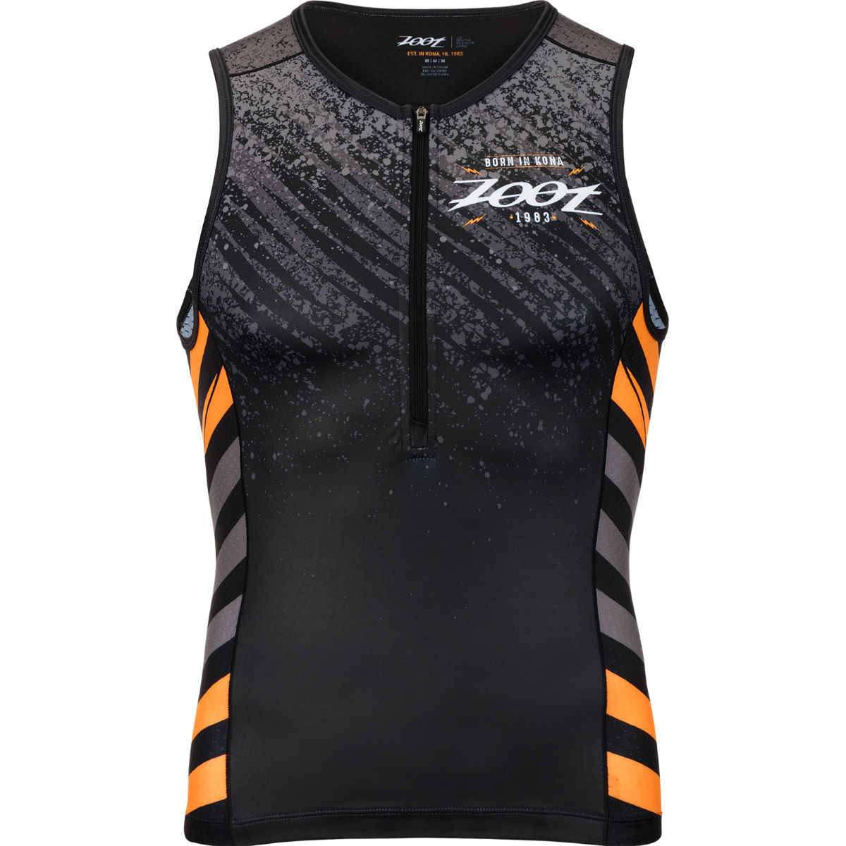 Image of Débardeur de triathlon Zoot Aloha LTD - S Noir/Orange