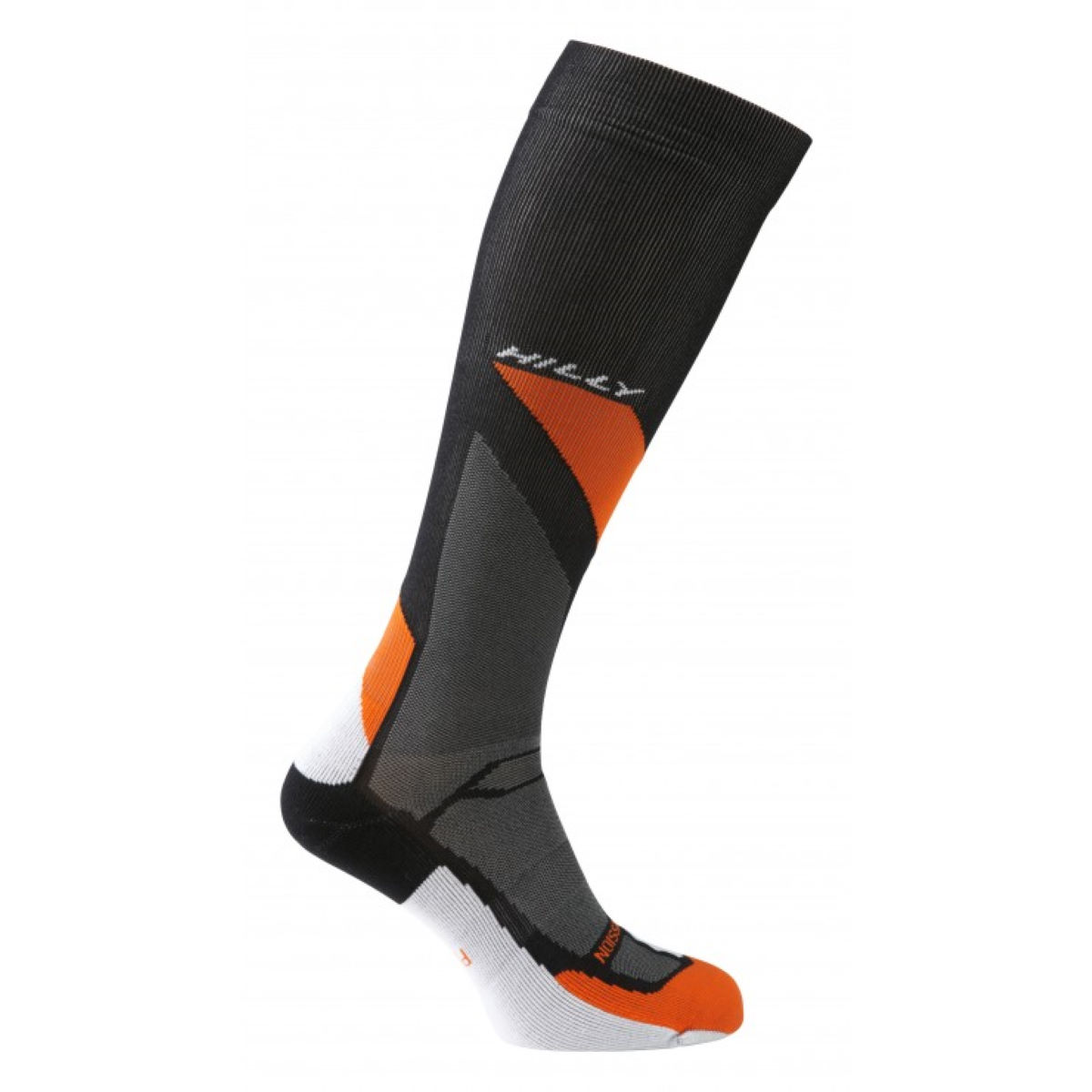 Chaussettes Hilly Marathon Fresh Compression - L Noir/Orange