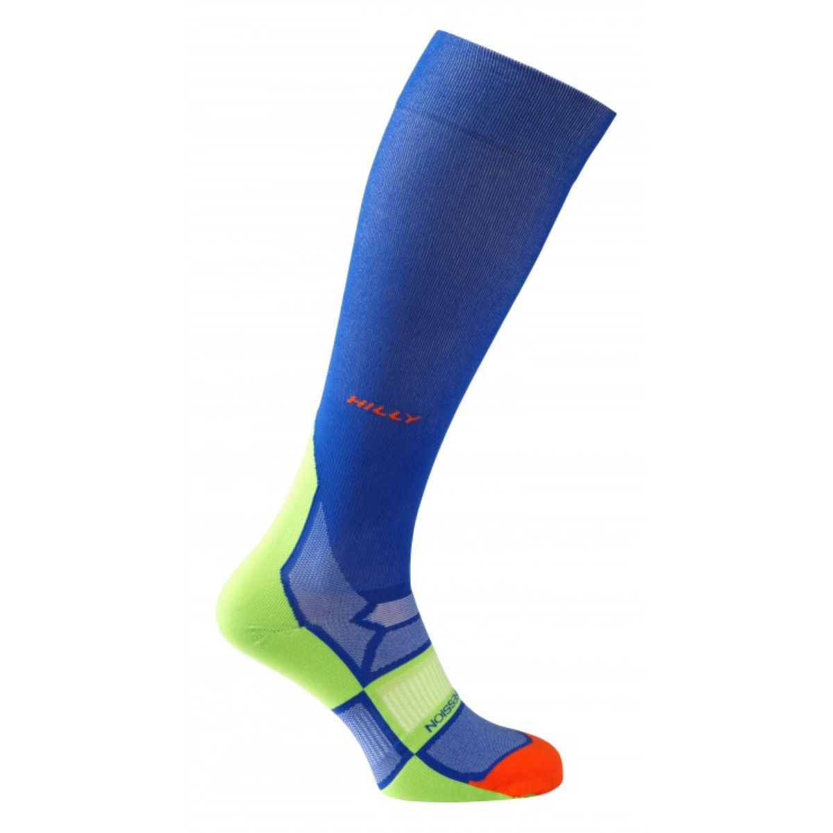 Chaussettes Hilly Pulse Compression - M Cobalt/Fluro Green