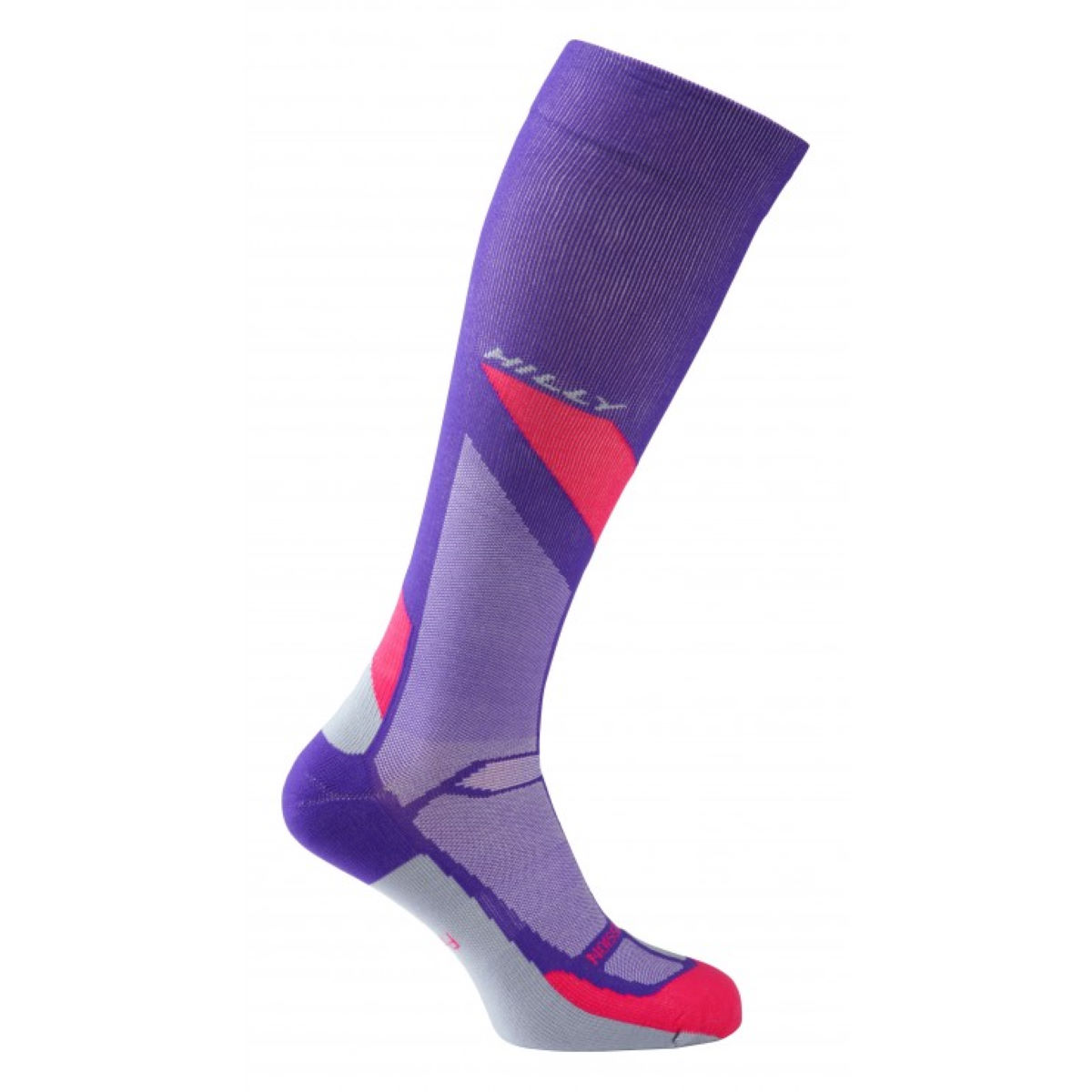 Image of Chaussettes Femme Hilly Marathon Fresh Compression - M Purple/Pink