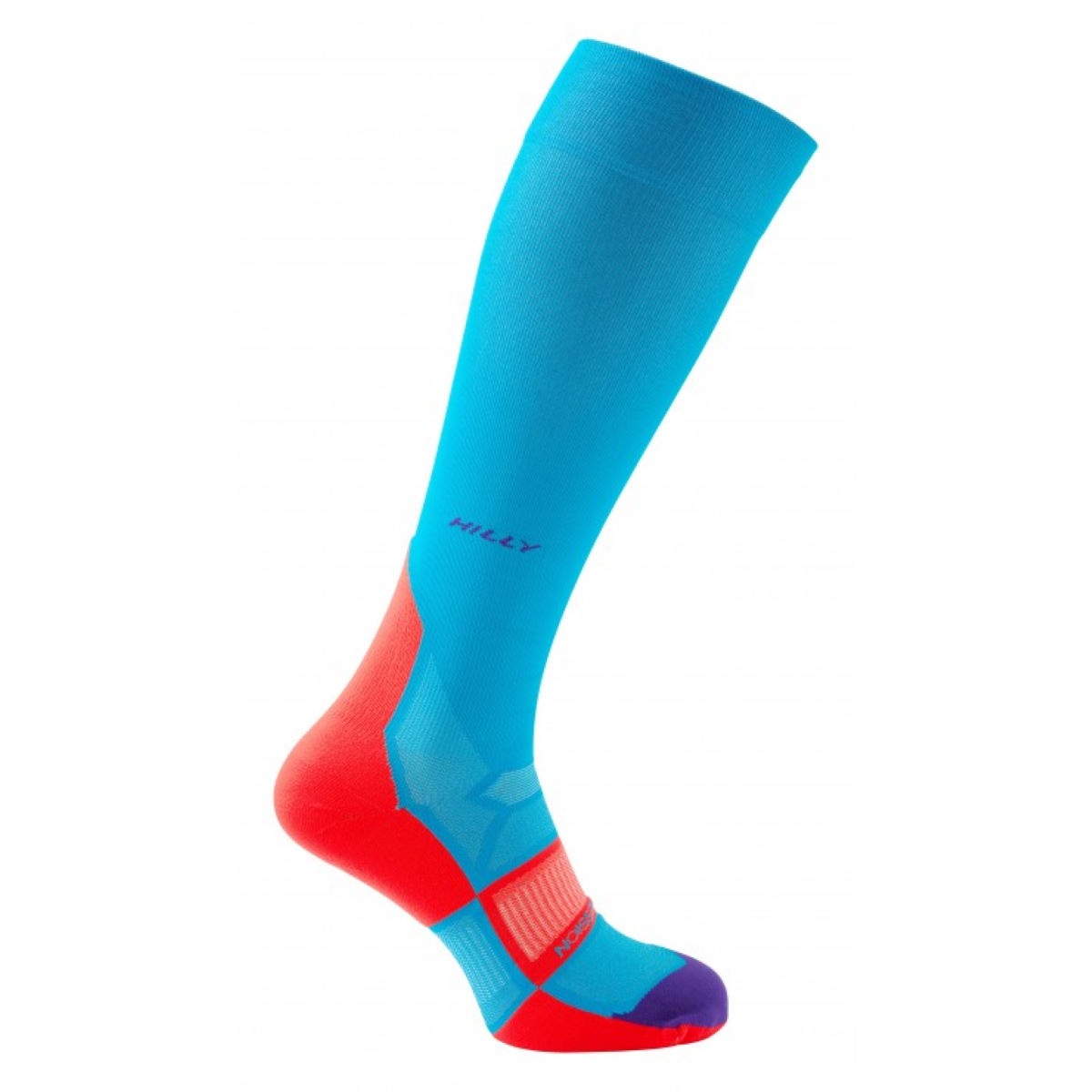 Image of Chaussettes Femme Hilly Pulse Compression - M Teal/Fluro Pink