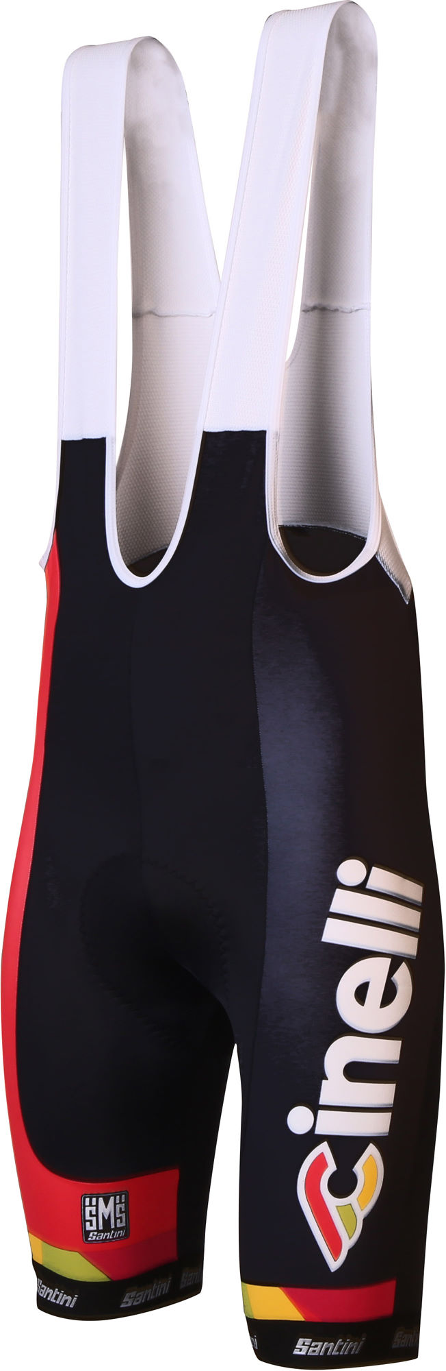 2017 Cinelli Chrome Team Cycling Bib Shorts with Max2 Pad made by Santini