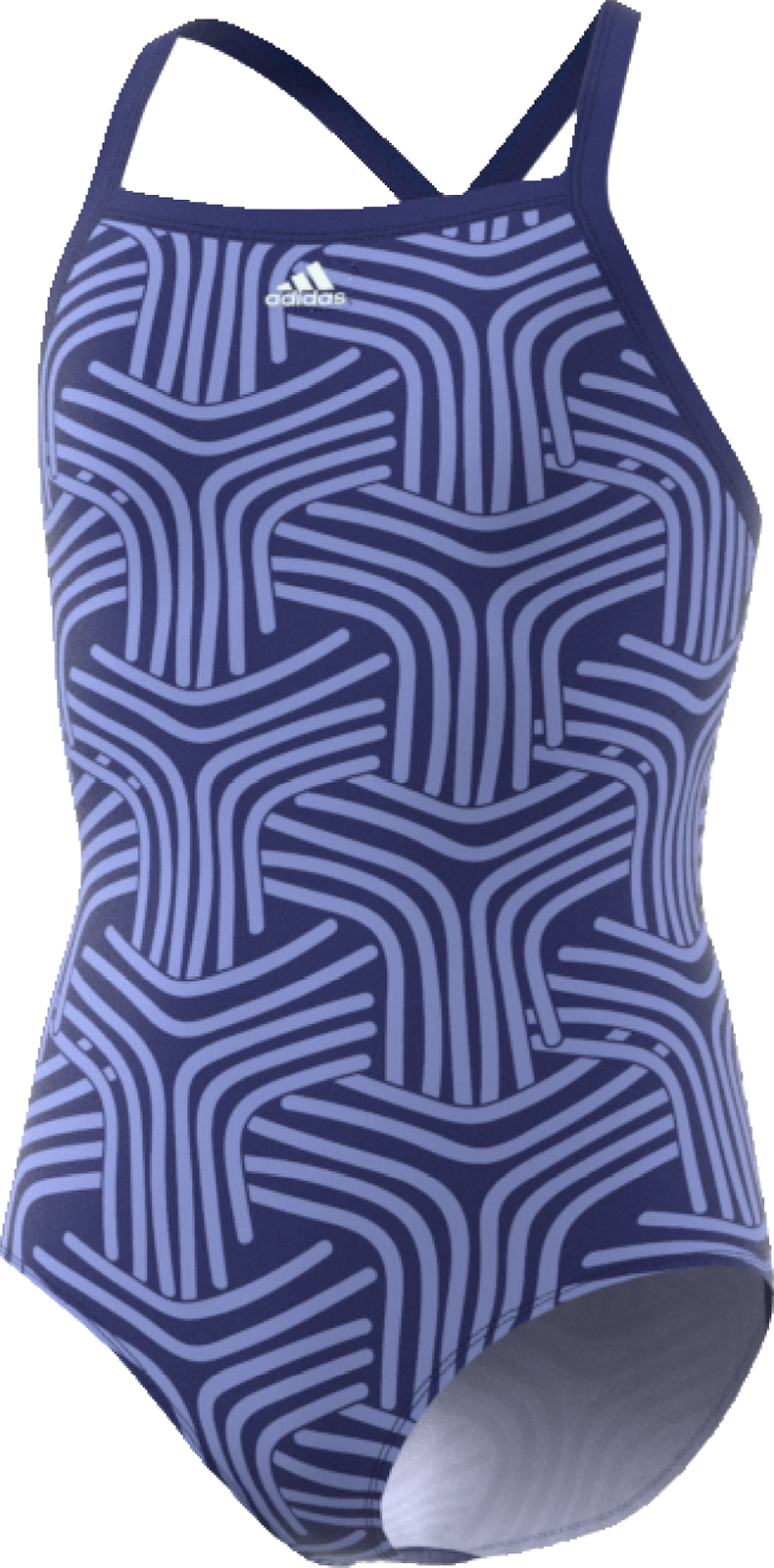 adidas Girl's Springbreak Allover Printed Swimsuit | Tri-beklædning