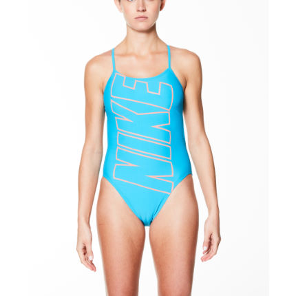 Nike Women's Logo Cut-Out One Piece