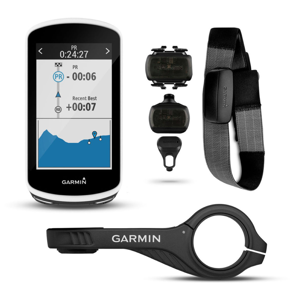 Garmin Garmin Edge 1030 Cycle Computer Bundle   Computers
