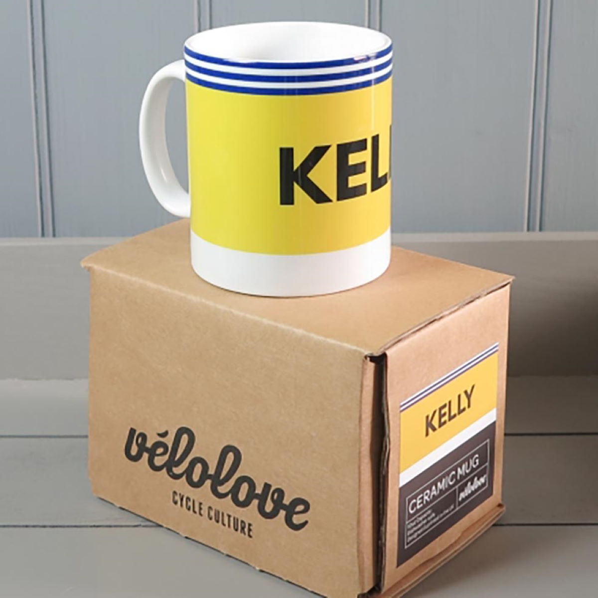 Image of Tasse Velolove Kelly Kas - Taille unique Yellow/Blue | Cadeaux