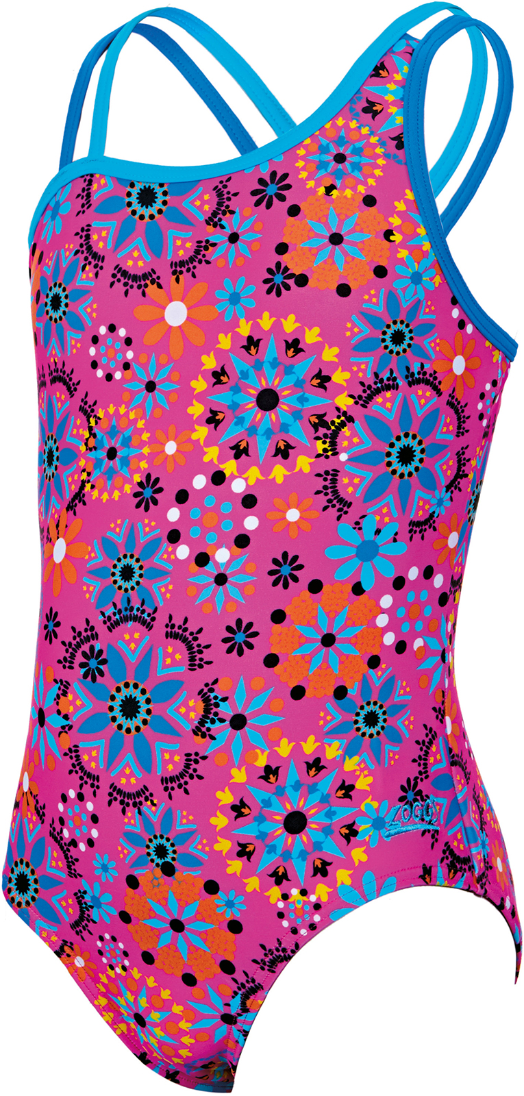 d3c8795a75 Wiggle | Zoggs Girl's Folk Tale Crossback Swimsuit | One Piece Swimsuits