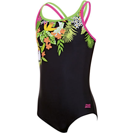 Zoggs Girl's Paradise Double X Back Swimsuit