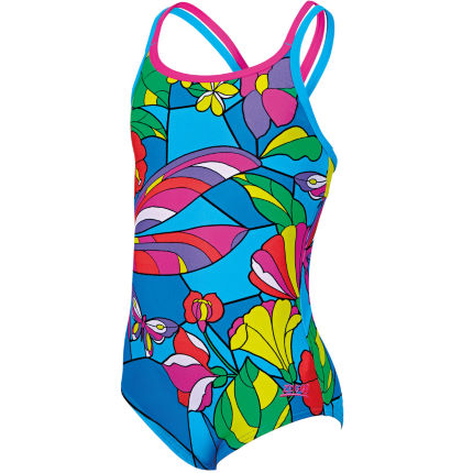 Zoggs Girl's Dragon Fly Duoback Swimsuit