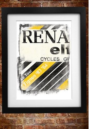 Cycling Souvenirs Renault Jersey A3 Paper Print | Misc. Multimedia