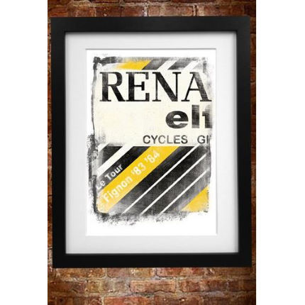 Cycling Souvenirs Renault Jersey A3 Paper Print