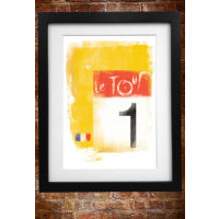 Cycling Souvenirs Tour de France A3 Paper Print