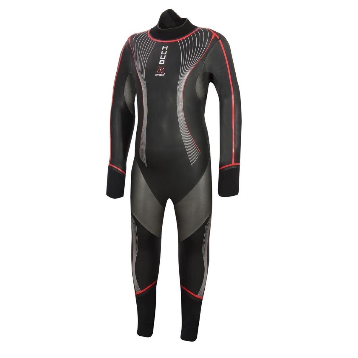 Image of Combinaison Enfant HUUB Atom 2 - 10 to 11 Noir/Rouge | Combinaisons