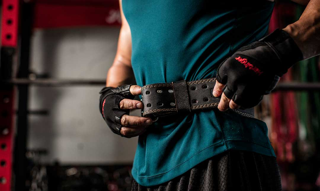 """Harbinger 4/"""" Padded Leather Weight Lifting Belt"""