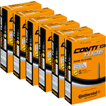 Continental Quality Road Long Valve Inner Tube Black 20mm-25mm