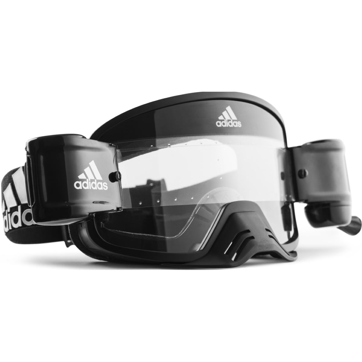 adidas Backland Dirt Clear Sonnenbrille (transparente Gläser mit Roll-Off-Option) - Radsportbrillen
