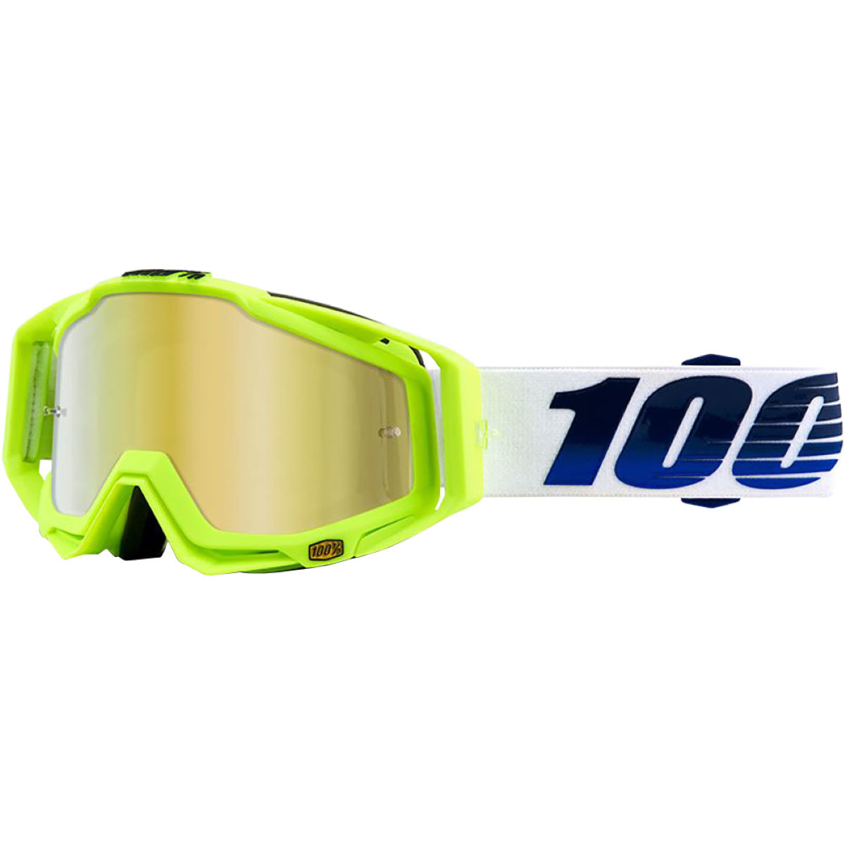 100% RACECRAFT GP21 - Mirror Gold Lens   Cycling Goggles