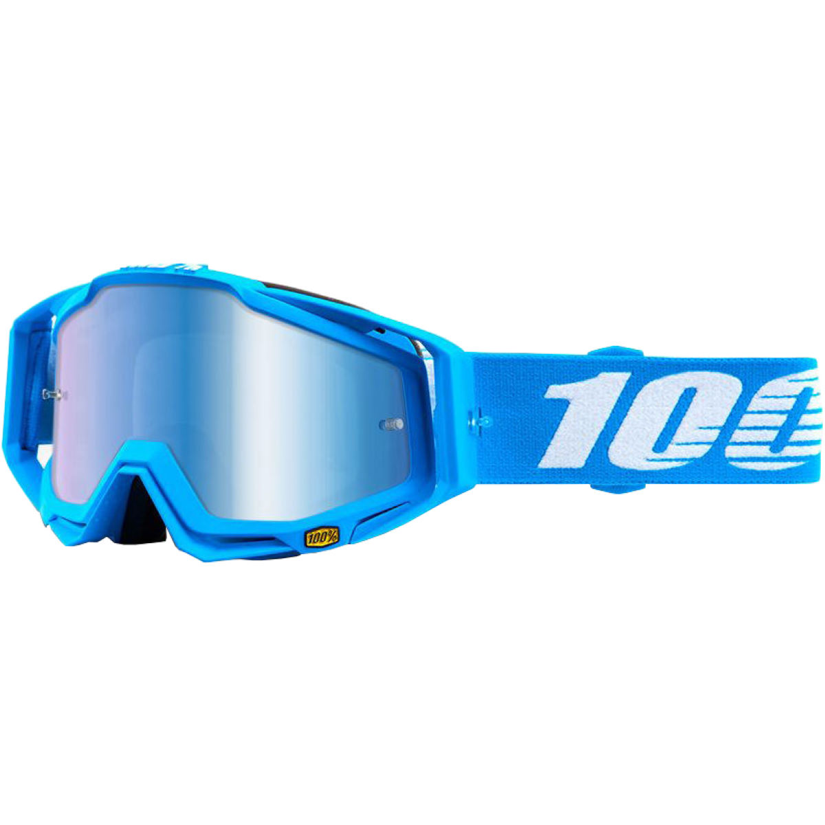 100% RACECRAFT Monoblock - Mirror Blue Lens   Cycling Goggles