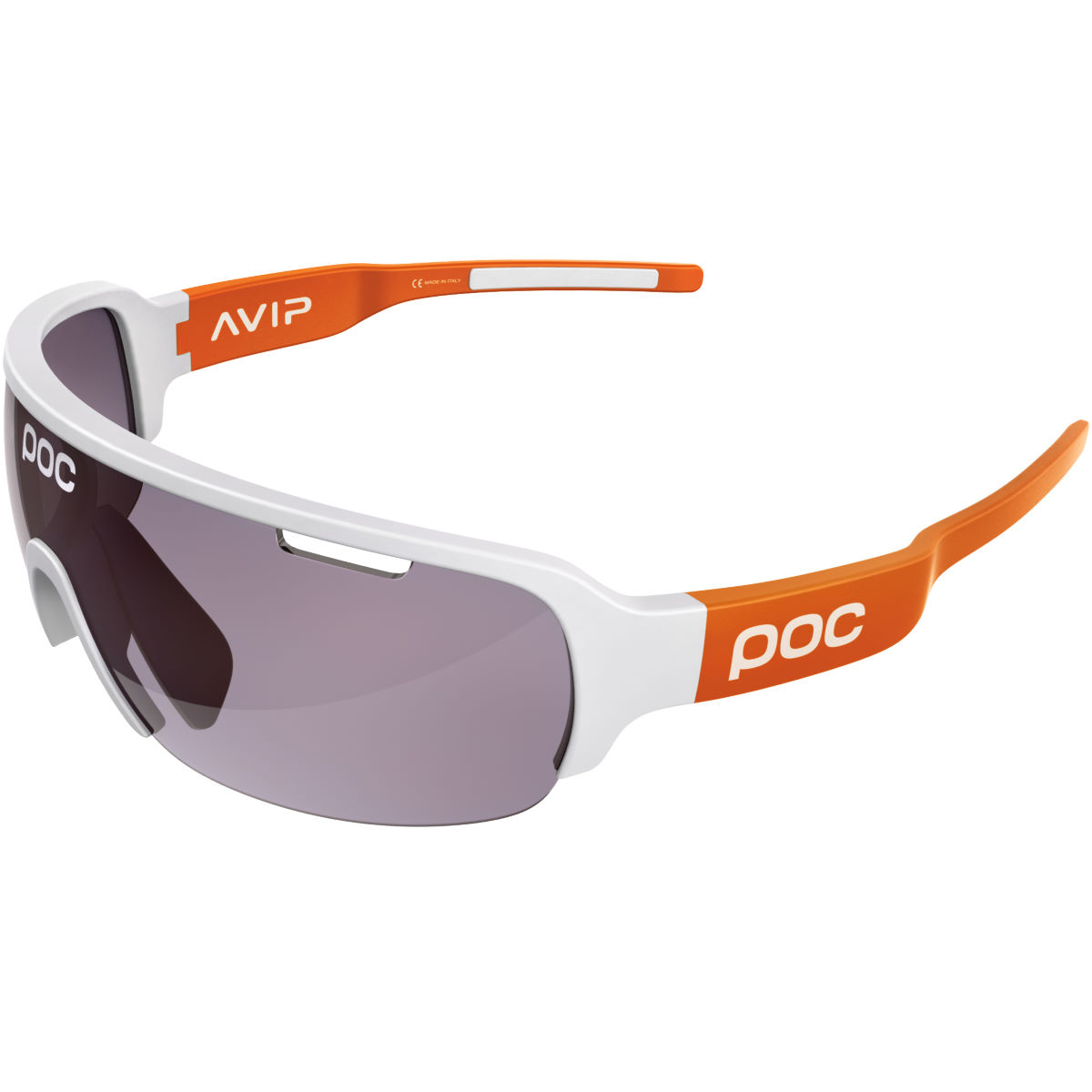 Poc Do Half Blade Clarity Avip Sunglasses - One Size White/orange