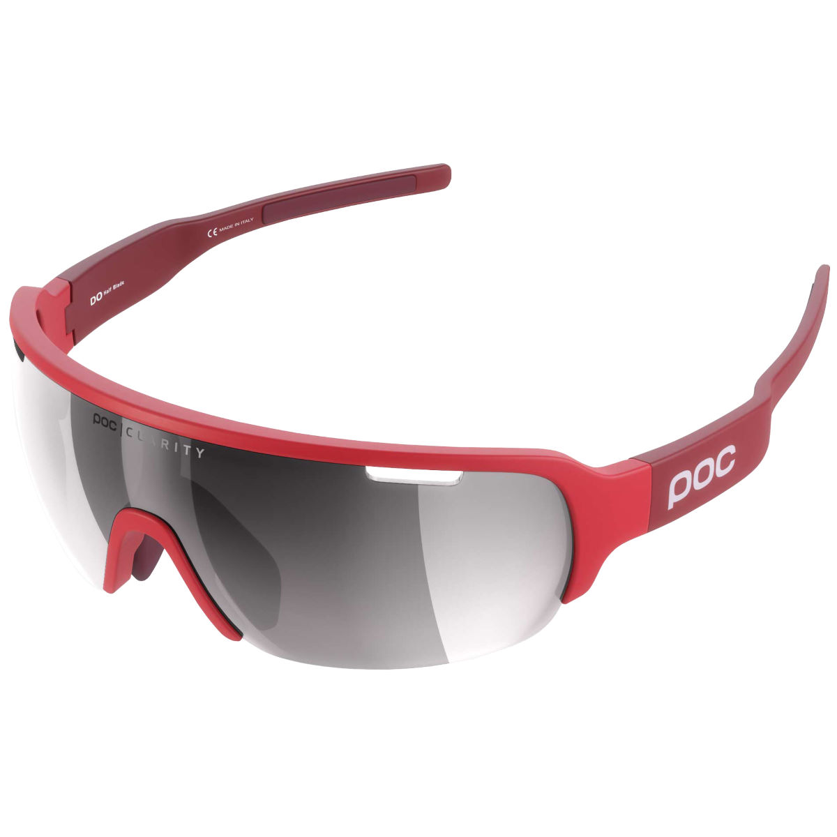 Poc Do Half Blade Clarity Avip Sunglasses - One Size Red/silver