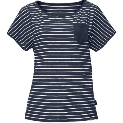 Jack Wolfskin Women's Travel Striped T-Shirt