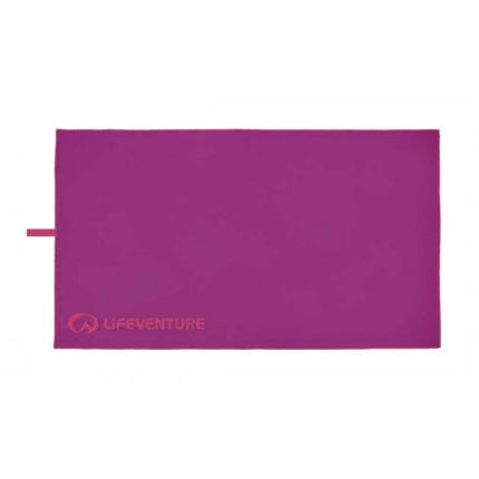 Lifeventure SoftFibre Lite Trek Towel - Large (Purple)