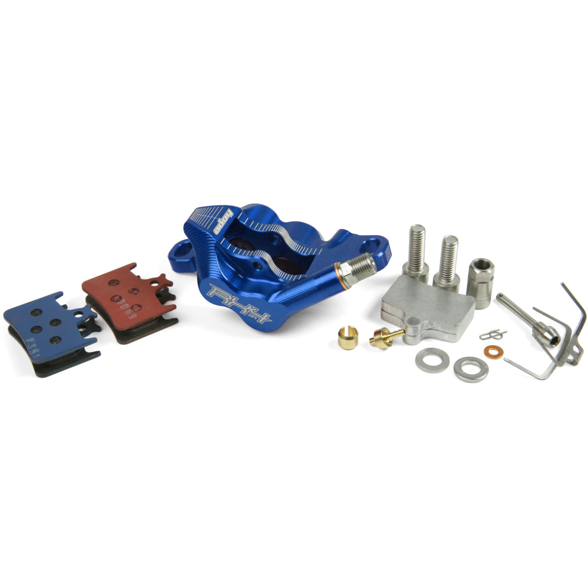 Hope Rx4 Complete Caliper - One Size Sram Fit Blue  Brake Spares