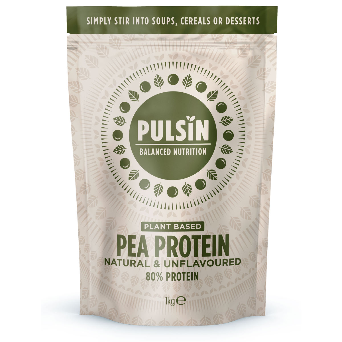 Pulsin Pea Protein Powder (1kg) - 1kg Natural  Powdered Drinks