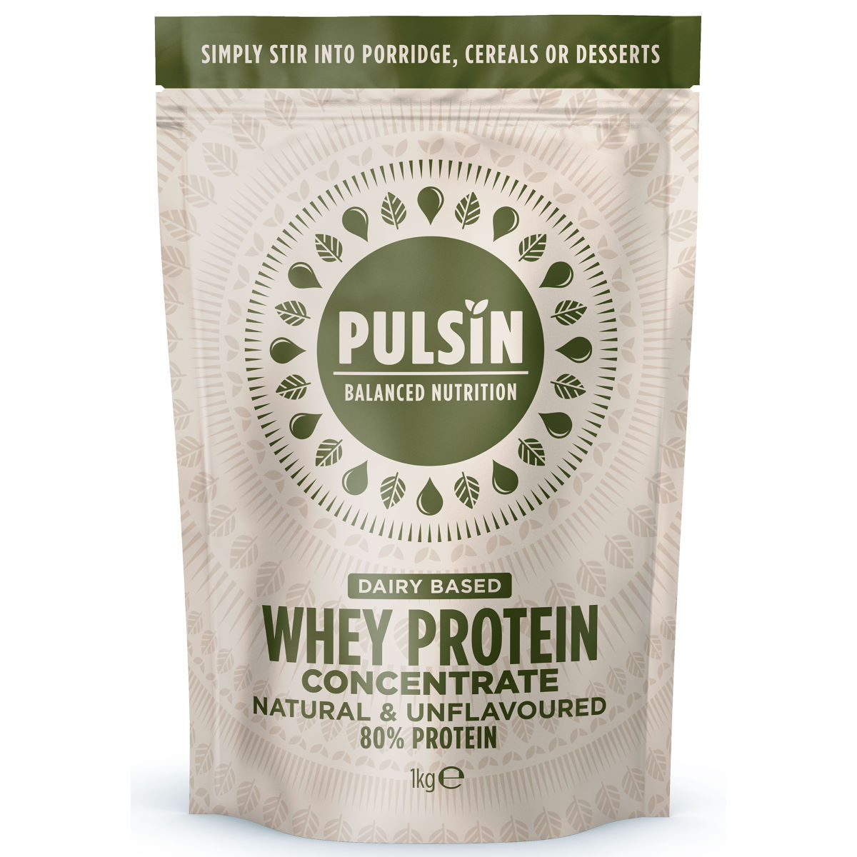 Pulsin Simply Whey Protein Powder (1kg) - 1kg Natural  Whey Protein