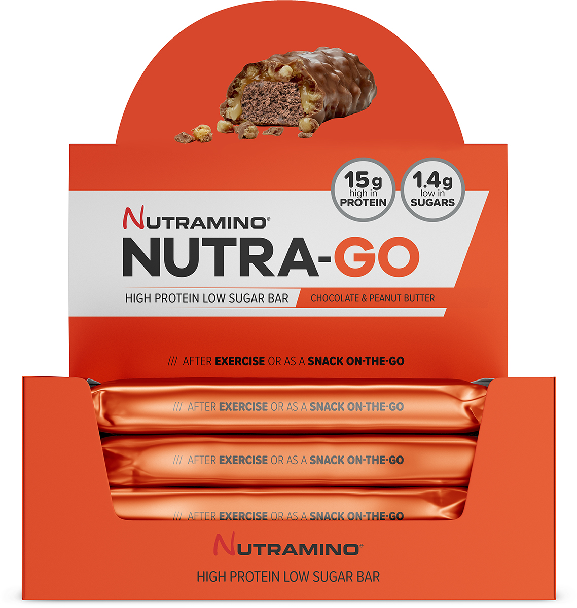 Nutramino Low Sugar Protein Bars (15 x 48g)   Protein bar and powder