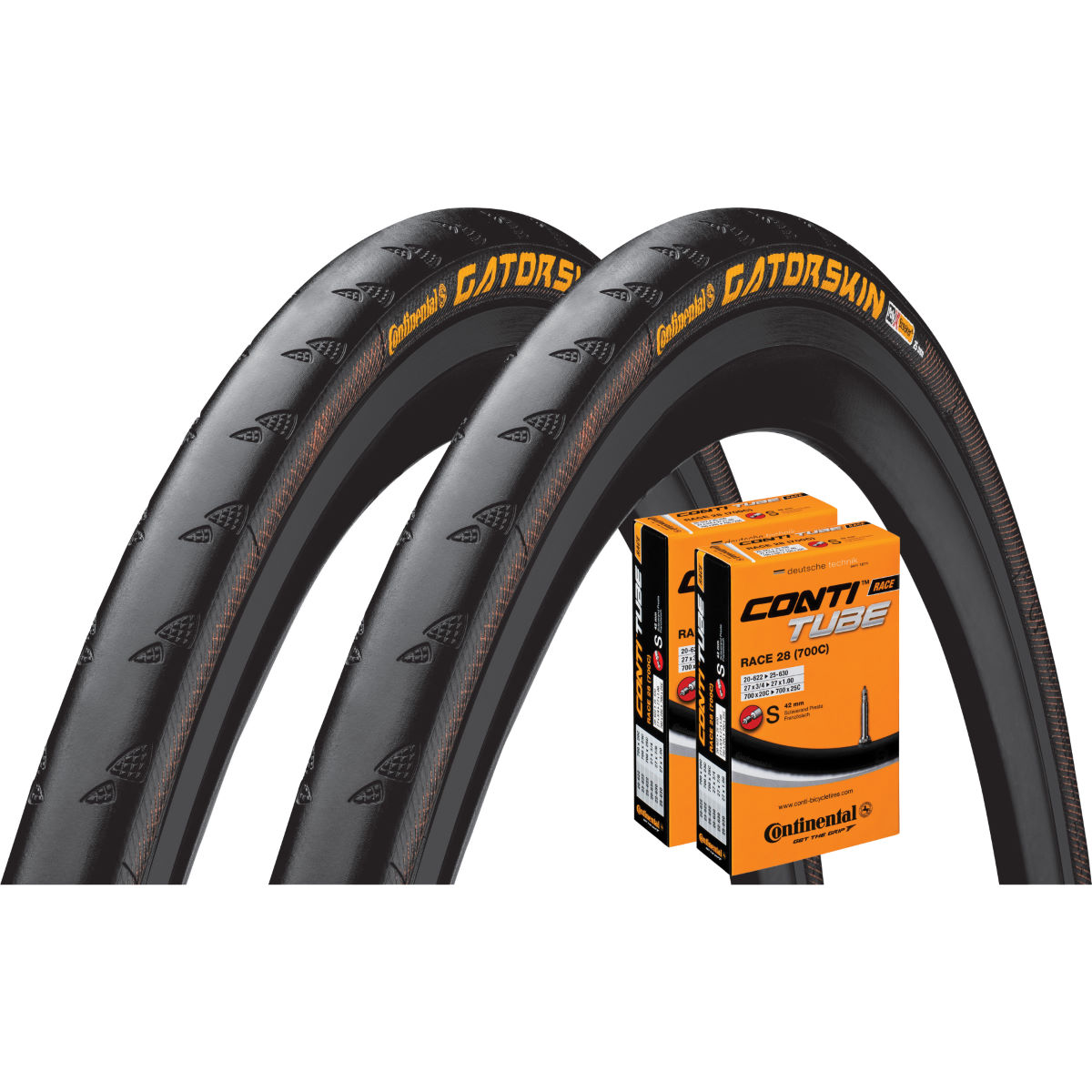 Continental Continental Gatorskin 23c Tyres + 2 Tubes   Tyres