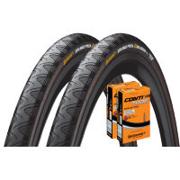 Continental Grand Prix 4 Season 23c Tires + 2 Tubes