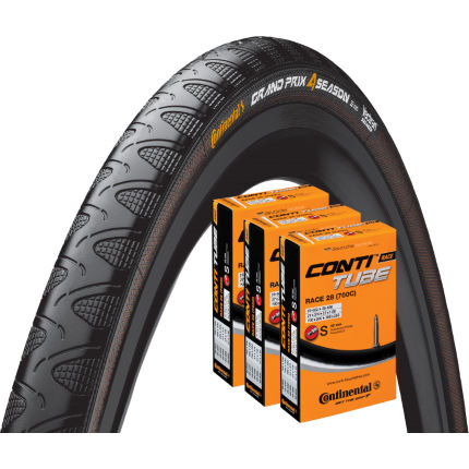 Continental Grand Prix 4 Season 23c Tyre and 3 Tubes