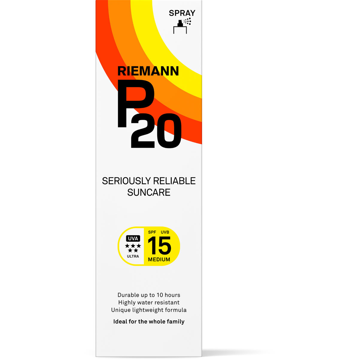Image of Spray solaire P20 SPF15 (100 ml) - 100ml Blanc | Crèmes solaires